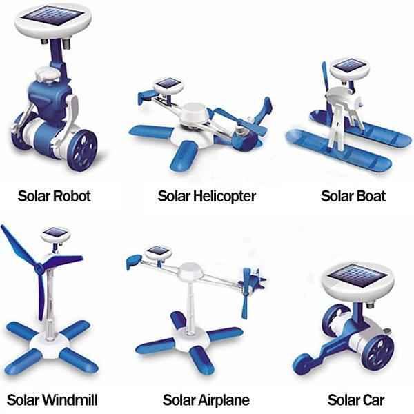 کیت آموزشی ساخت 6 روبات خورشیدی – فروشگاه اینترنتی کالا تی وی - kalatv.ir